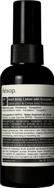 Aesop , Avail Spf 50 Body Lotion
