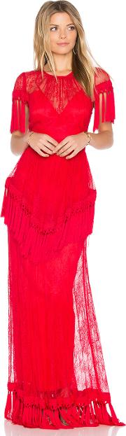 Alice Mccall , Lady In Red Gown