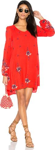 Free People , Oxford Embroidered Mini Dress