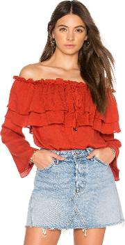 Endless Rose , Flared Off The Shoulder Top