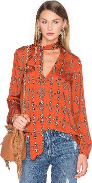 House Of Harlow 1960 , X Revolve Naomi Tie Neck Blouse