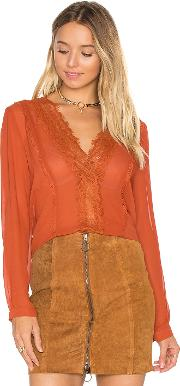 Lucy Paris , Carissa V Neck Top