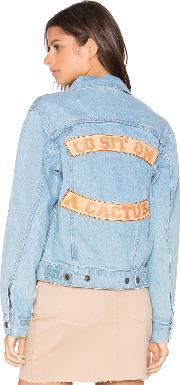 Understated Leather , Go Sit On A Cactus Denim Jacket