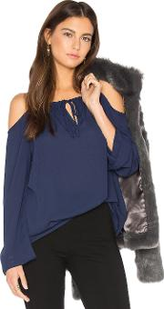 Three Eighty Two , Payton Cold Shoulder Top
