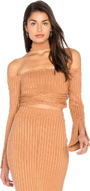 Lavish Alice , High Neck Wrap Around Top