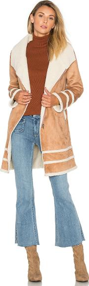 Somedays Lovin , Meet Me In Utah Coat With Faux Sherpa Lining