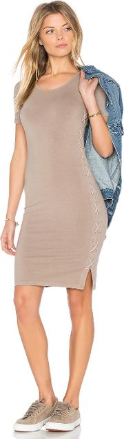 Monrow , Fitted Lace Up Dress