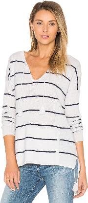 Autumn Cashmere , Tassel Striped Baja Sweater