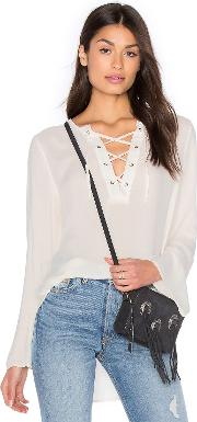 Bella Dahl , Bell Sleeve Lace Up Top