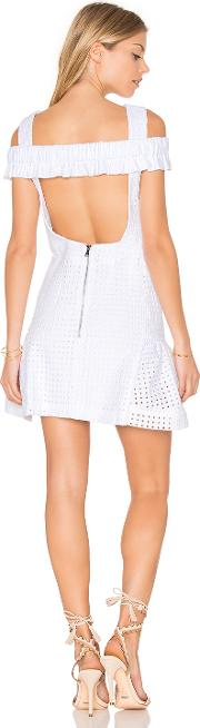 By Johnny , Marthe Lace Elastic Frill Mini Dress