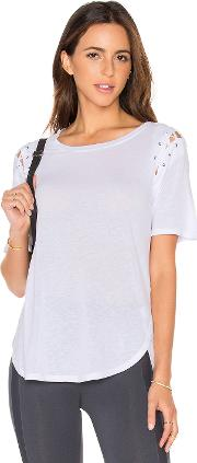 David Lerner , Lace Up Sleeve Top