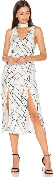 Lavish Alice , Monochrome Cracked Midi Dress