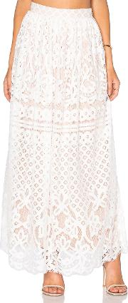 Lucy Paris , Lace Maxi Skirt