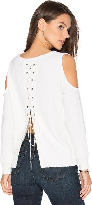 One Grey Day , Sylvie Cold Shoulder Sweater