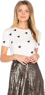 Sincerely Jules , Heart Embroidered Tee