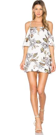 State Of Being , Leafy Floral Mini Dress