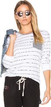 Sundry , Stripes Slub Tee With Pocket