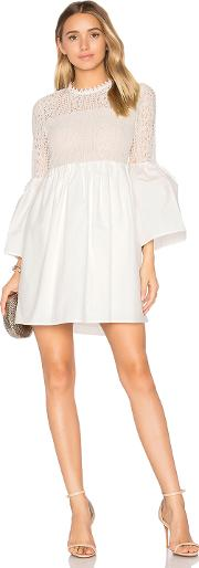 Endless Rose , Flare Sleeve Lace Mini Dress