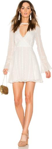 Endless Rose , Flared Lace Dress With Bell Sleeves