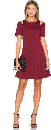 1 State , Cut Out Shoulder Fit & Flare Dress