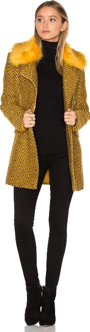 Lucy Paris , Berly Faux Fur Coat