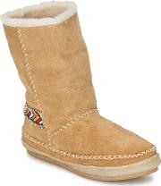 Laidback London , Naira Women's Mid Boots In Beige