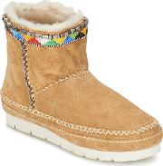 Laidback London , Nyali Women's Low Ankle Boots In Beige
