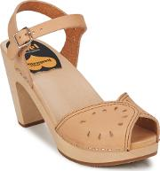 Swedish Hasbeens , Savannah Women's Sandals In Beige