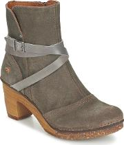 Art , Amsterdam Women's Low Ankle Boots In Grey