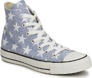 Converse , All Star Big Star Print Hi Women's Shoes (high-top Trainers) In Grey
