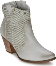 Manas ,  Women's Low Ankle Boots In Grey