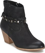 Dream In Green , Ambre Women's Low Ankle Boots In Black