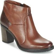 Dream In Green , Folarifo Women's Low Ankle Boots In Brown