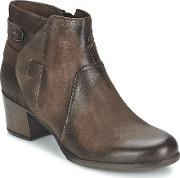 Dream In Green , Ielena Women's Low Ankle Boots In Brown