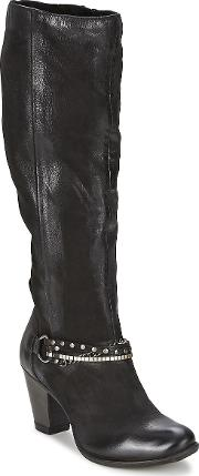 Dream In Green , Saher Women's High Boots In Black