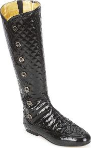 French Sole , Pumpkin Women's High Boots In Black