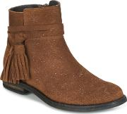Acebos , Acebo's Dada Girls's Mid Boots In Brown