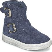Acebos , Acebo's Moully Girls's Mid Boots In Blue