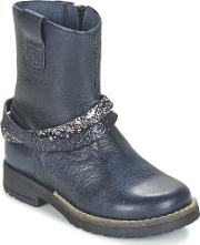 Acebos , Acebo's Mufie Girls's Mid Boots In Blue
