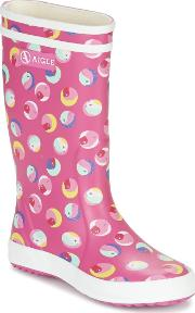 Aigle , Lolly Pop Glittery Girls's Wellington Boots In Pink