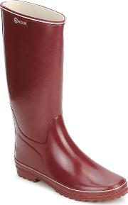 Aigle , Venise Women's Wellington Boots In Red