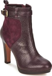 Bronx , Isabela Women's Low Ankle Boots In Red