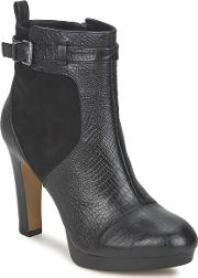 Bronx , Ohio Women's Low Ankle Boots In Black