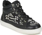 Bronx , Sneak Women's Shoes (high-top Trainers) In Black