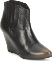 Bronx , Victotria Women's Low Ankle Boots In Black
