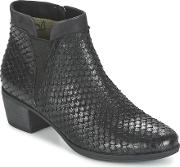 Caprice , Blochi Women's Low Ankle Boots In Black