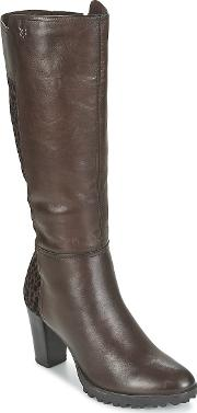 Caprice , Eguiale Women's High Boots In Brown