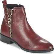 Caprice , Eguiana Women's Mid Boots In Red
