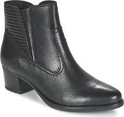 Caprice , Lonoute Women's Low Ankle Boots In Black