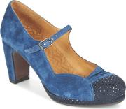 Chie Mihara , Misto Women's Court Shoes In Blue